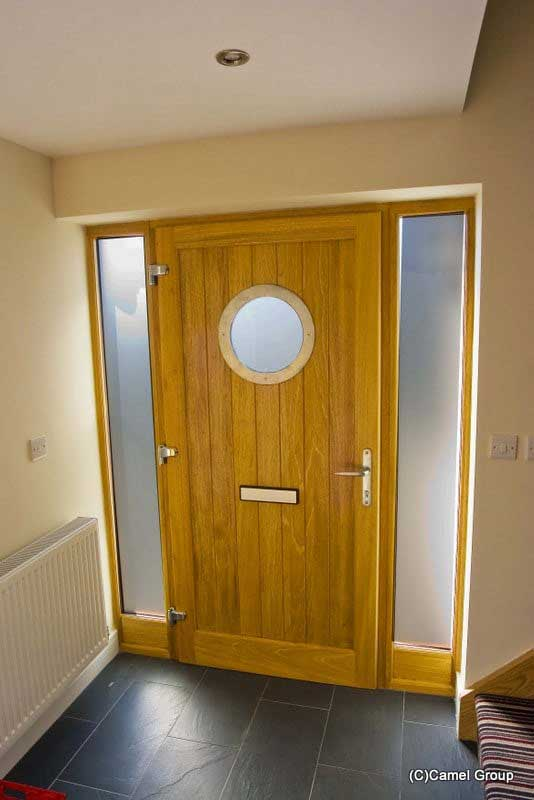 Timber door with Porthole