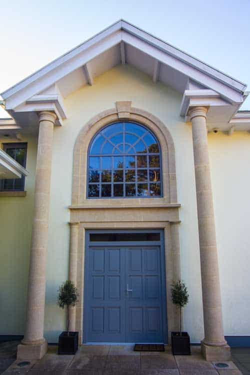 Grand Timber Entrance Door in Blue
