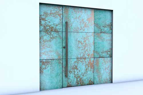 copper-patina-door-with-panels