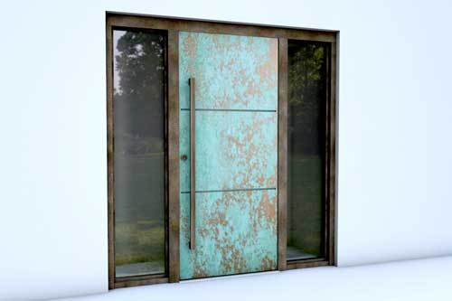 Copper Patina Door