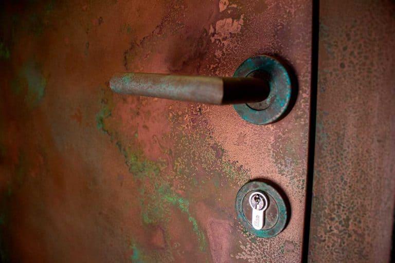Liquid Metal Front Entrance Doors Copper Patina Contemporary Entrance Door