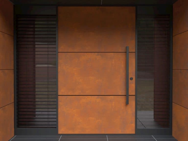 LIQUID METAL FRONT ENTRANCE DOORS