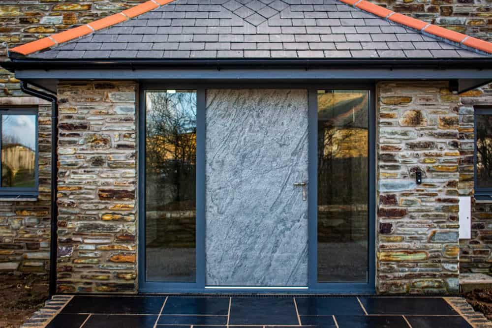 Slate Stone Finished Entrance Door