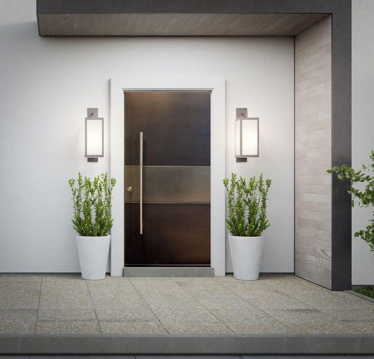 Dual Liquid Metal Front Entrance Door