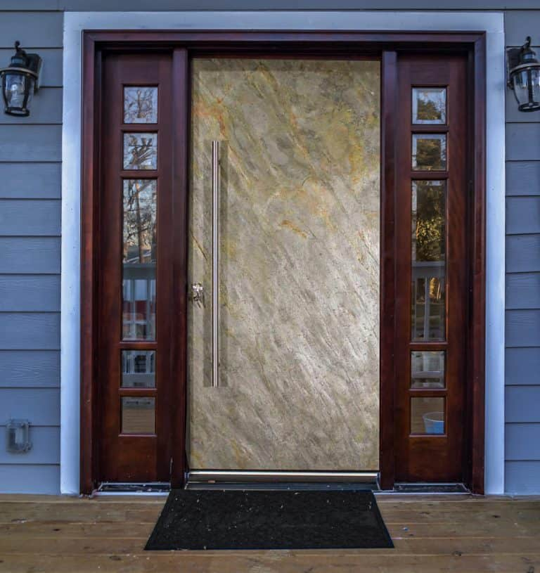 Contemporary Stone Front Entrance Door