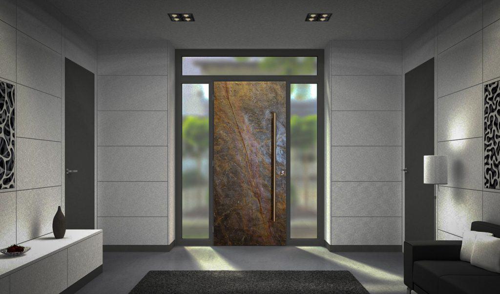 Stone Front Entrance Door