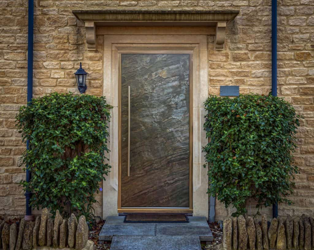 Front Entrance Door In Slate Finish
