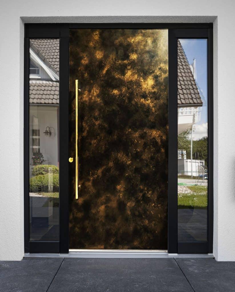 Patina Bronze Front Entrance Door