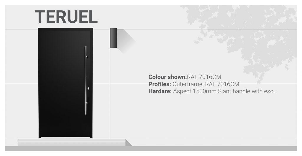 teruel aluminium front door specifications