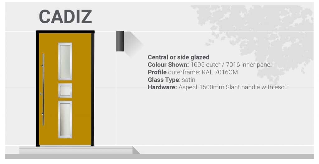 Cadiz aluminium door specs