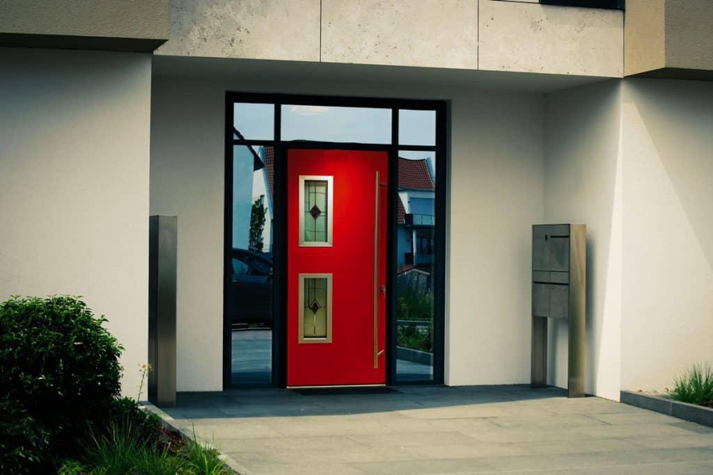 Flush Aluminium Front Door