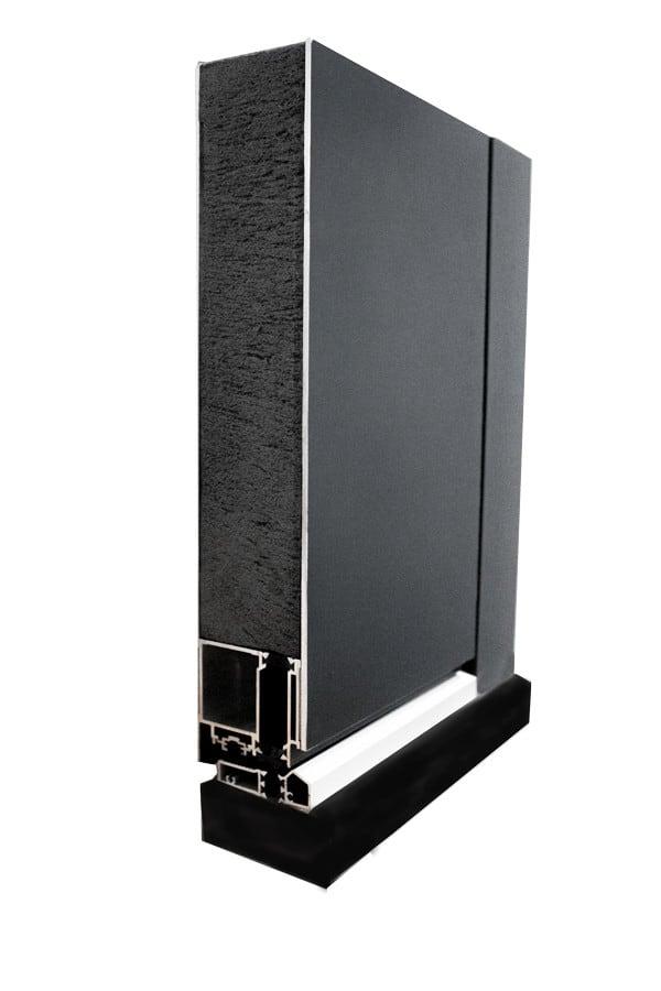 Flush Aluminium Door Section