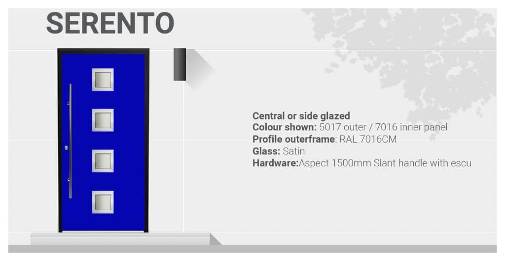 Serento aluminium front door specifications