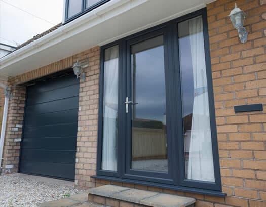uPVC & glass front door